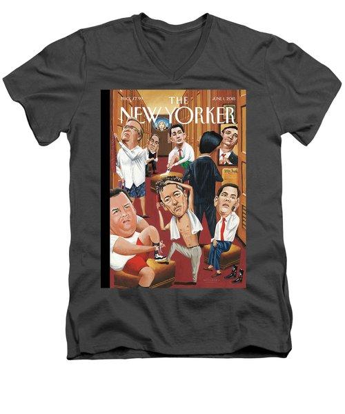 Suiting Men's V-Neck T-Shirt
