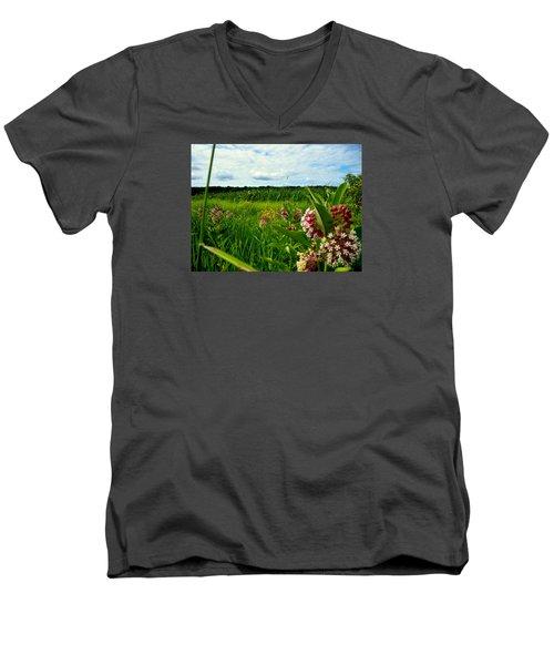 Summer Breeze Men's V-Neck T-Shirt by Zafer Gurel
