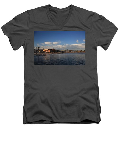 Summer Evenings In Santa Cruz Men's V-Neck T-Shirt