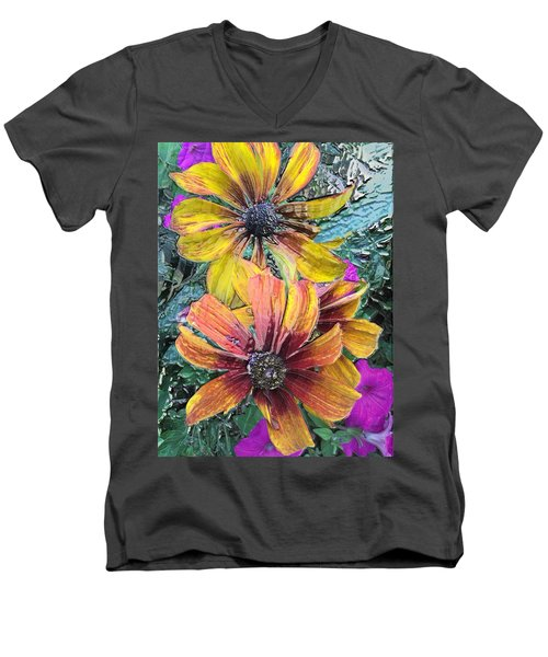 Summer Flowers One Men's V-Neck T-Shirt