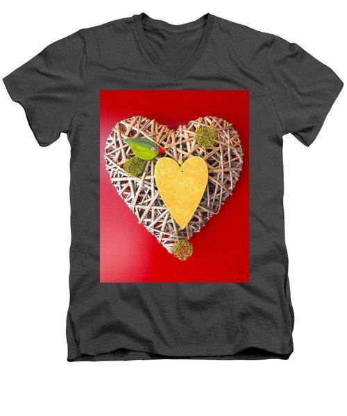 Men's V-Neck T-Shirt featuring the photograph Summer Heart by Juergen Weiss