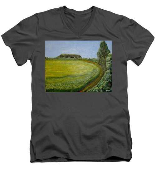 Summer In Canola Field Men's V-Neck T-Shirt