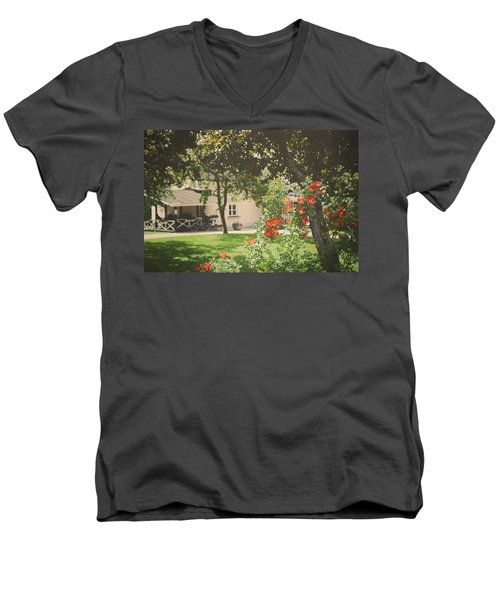Men's V-Neck T-Shirt featuring the photograph Summer In The Park by Ari Salmela