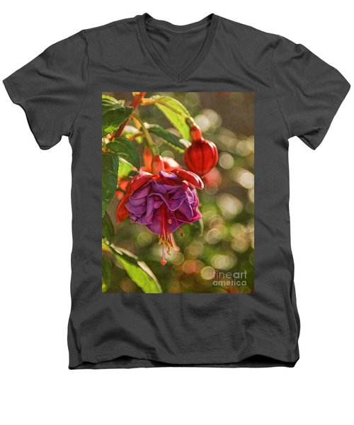 Summer Jewels Men's V-Neck T-Shirt by Peggy Hughes