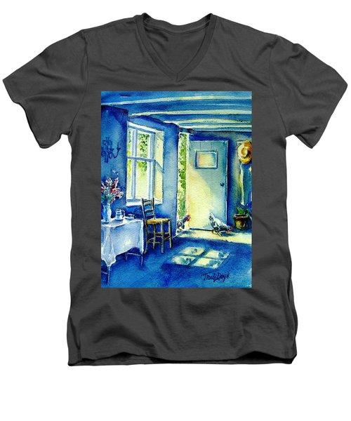Summer Morning Visitors  Men's V-Neck T-Shirt by Trudi Doyle