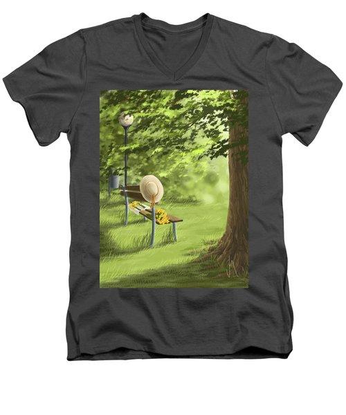 Summer Paradise Men's V-Neck T-Shirt