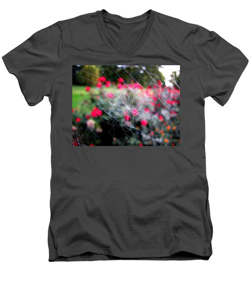 Men's V-Neck T-Shirt featuring the photograph Summer Snowflake by Greg Simmons