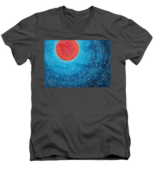 Summer Sun Original Painting Men's V-Neck T-Shirt