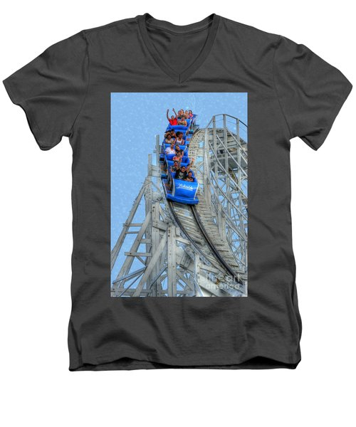Summer Time Thriller Men's V-Neck T-Shirt by Juli Scalzi
