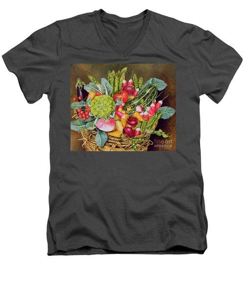 Summer Vegetables Men's V-Neck T-Shirt