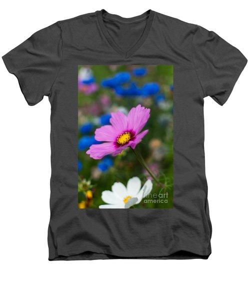 Men's V-Neck T-Shirt featuring the photograph Summer Wild Blooms by Matt Malloy