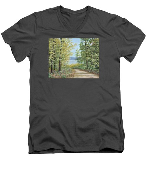 Summer Woods Men's V-Neck T-Shirt
