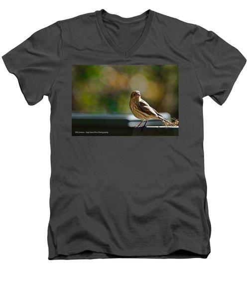 Men's V-Neck T-Shirt featuring the photograph Sun Bathing by Robert L Jackson