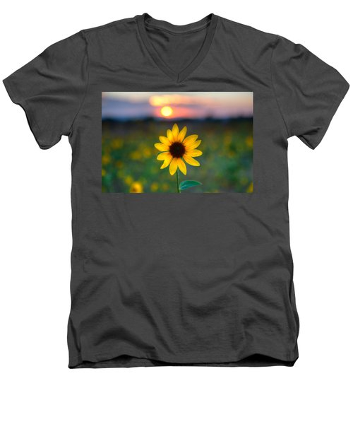 Sun Flower Iv Men's V-Neck T-Shirt