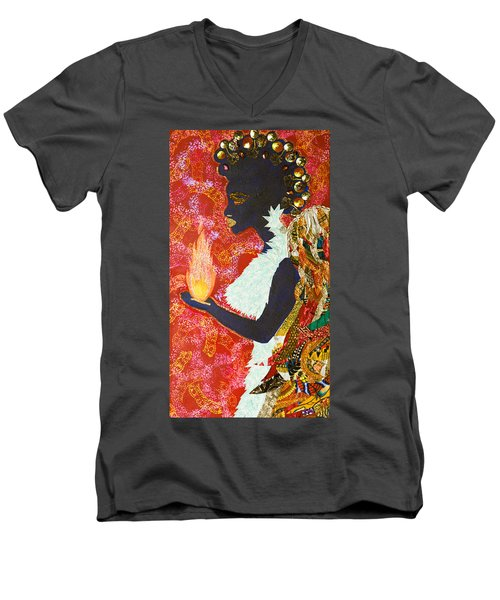 Sun Guardian - The Keeper Of The Universe Men's V-Neck T-Shirt by Apanaki Temitayo M