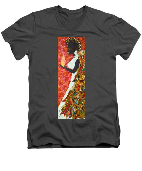 Sun Guardian - The Keeper Of The Universe Men's V-Neck T-Shirt