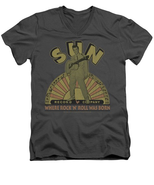 Sun - Original Son Men's V-Neck T-Shirt by Brand A