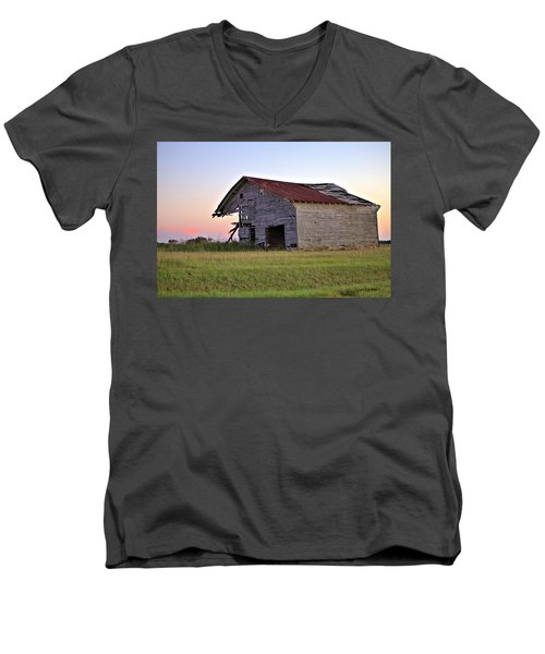 Men's V-Neck T-Shirt featuring the photograph Sun Slowly Sets by Gordon Elwell