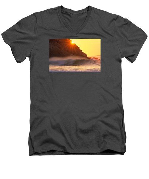 Sun Star Singing Beach Men's V-Neck T-Shirt by Michael Hubley