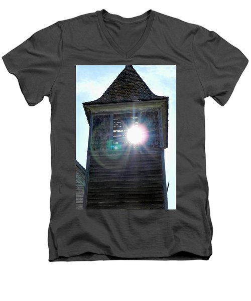 Sun Through The Steeple-by Cathy Anderson Men's V-Neck T-Shirt