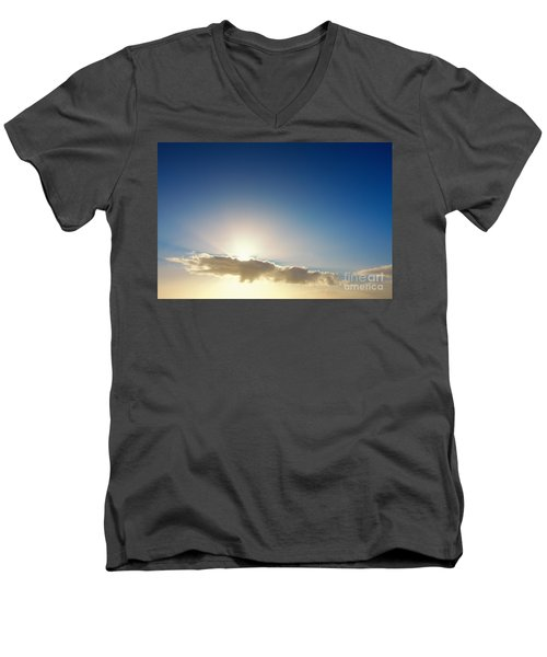 Sunbeams Behind Clouds Men's V-Neck T-Shirt