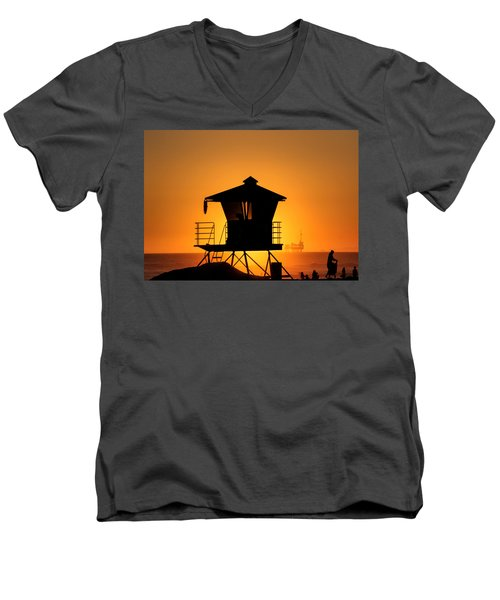 Men's V-Neck T-Shirt featuring the photograph Sunburst by Tammy Espino