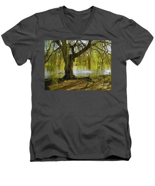 Sunday In The Park Men's V-Neck T-Shirt by Madeline Ellis