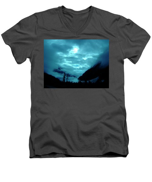 Men's V-Neck T-Shirt featuring the photograph Sunday Morning by Jeremy Rhoades