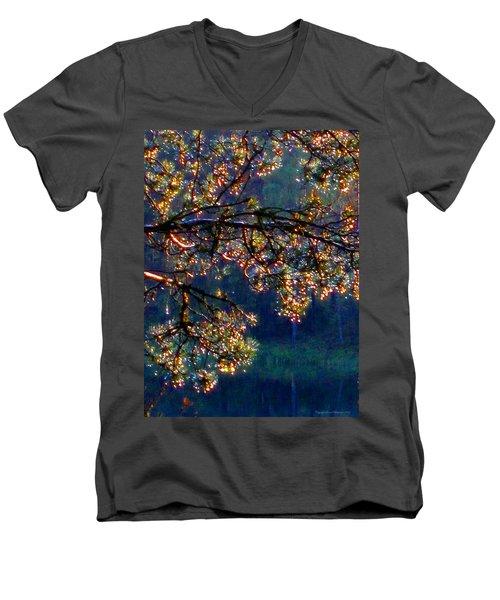 Sundrops Men's V-Neck T-Shirt by Leena Pekkalainen