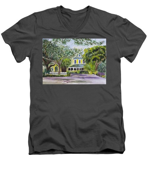 Sundy House In Delray Beach Men's V-Neck T-Shirt