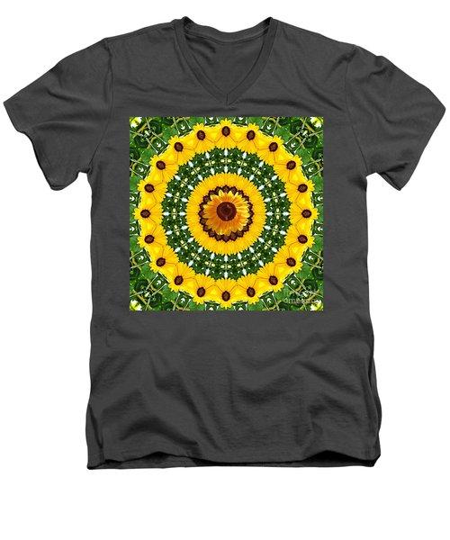 Sunflower Centerpiece Men's V-Neck T-Shirt
