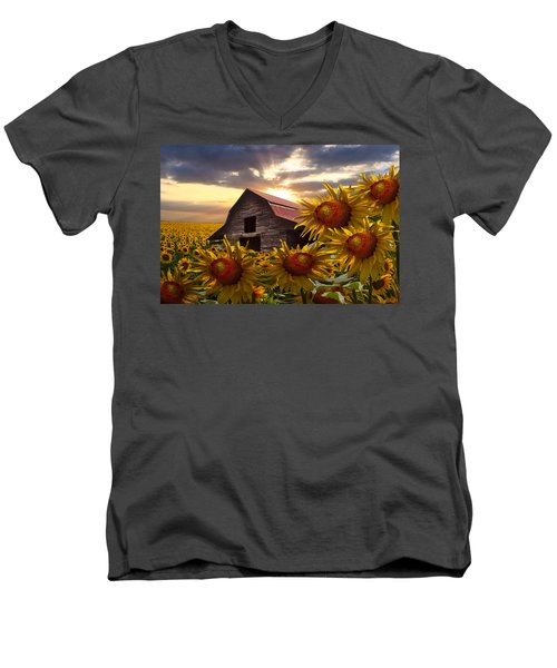 Sunflower Dance Men's V-Neck T-Shirt