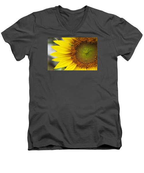 Sunflower Face Men's V-Neck T-Shirt