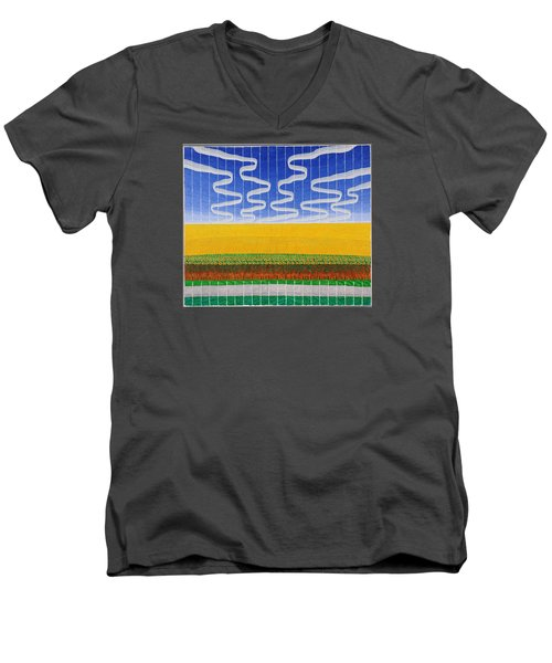 Sunflower Fields Men's V-Neck T-Shirt
