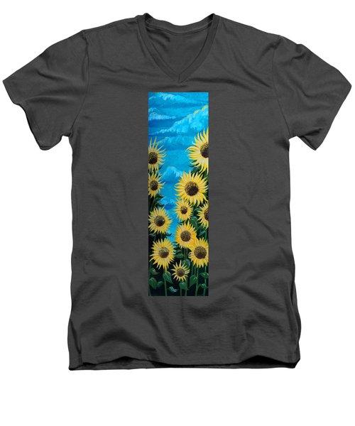 Sunflower Fun Men's V-Neck T-Shirt