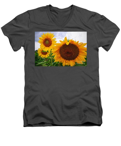 Sunflower Mama And Her Daughters  Men's V-Neck T-Shirt