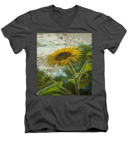 Sunflower Mountain Men's V-Neck T-Shirt