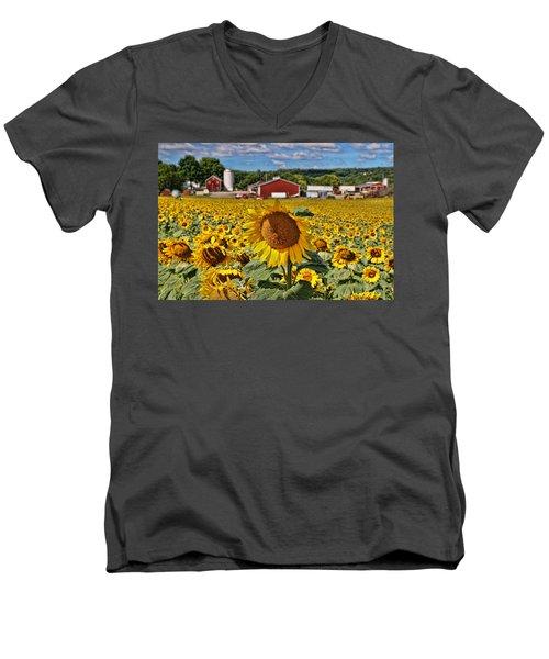 Sunflower Nirvana 21 Men's V-Neck T-Shirt