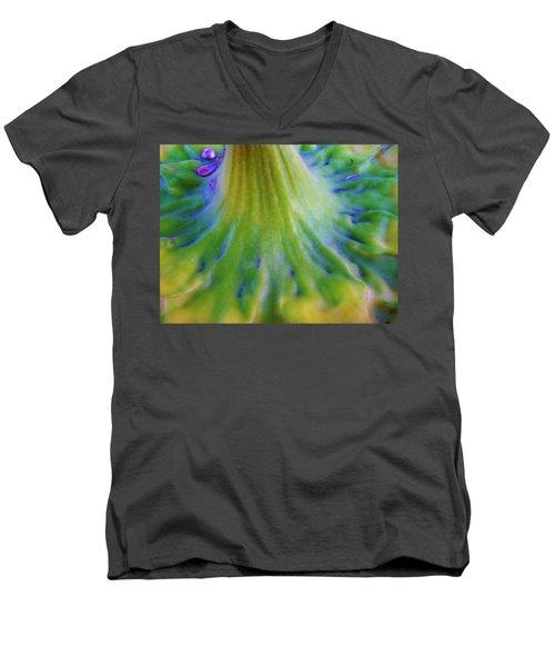 Men's V-Neck T-Shirt featuring the photograph Sunflower...moonside 2 by Daniel Thompson