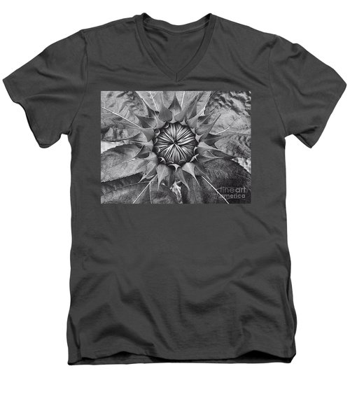 Sunflower's Shades Of Grey Men's V-Neck T-Shirt by Elizabeth Dow