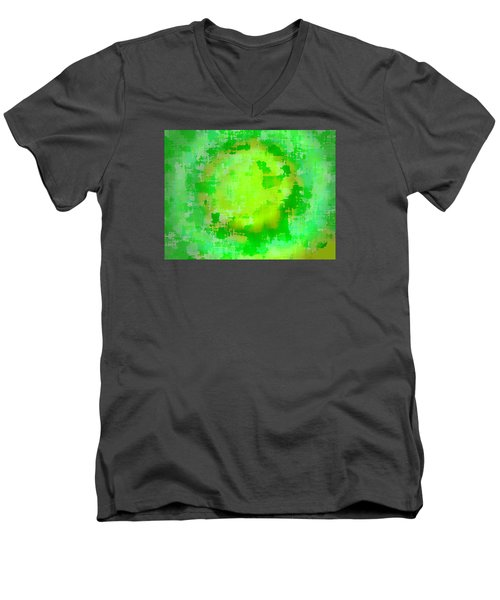 Original Abstract Art Painting Sunlight In The Trees  Men's V-Neck T-Shirt