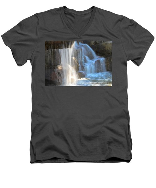 Sunlight On The Falls Men's V-Neck T-Shirt
