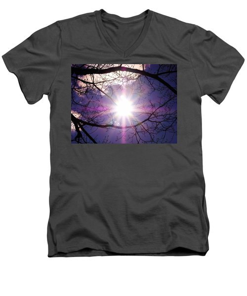 Men's V-Neck T-Shirt featuring the photograph Sunny Afternoon by Sherman Perry