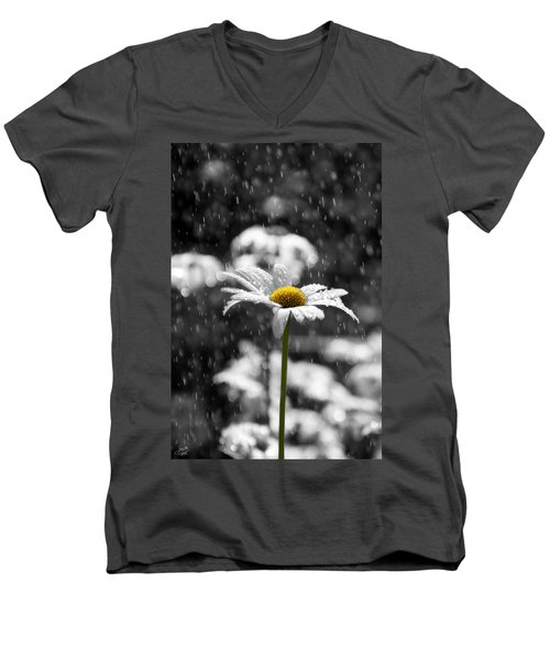 Sunny Disposition Despite Showers Men's V-Neck T-Shirt