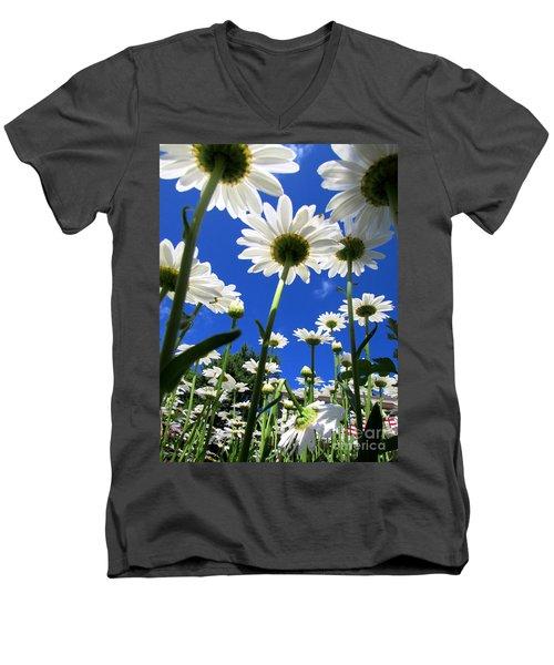 Sunny Side Up Men's V-Neck T-Shirt by Pamela Clements