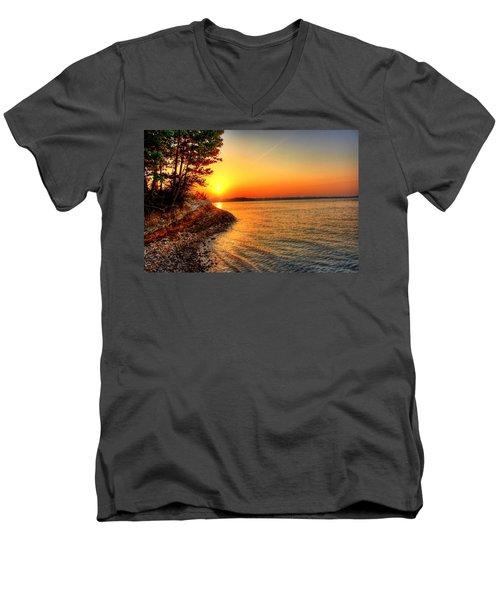 Sunrise Around The Bend Men's V-Neck T-Shirt