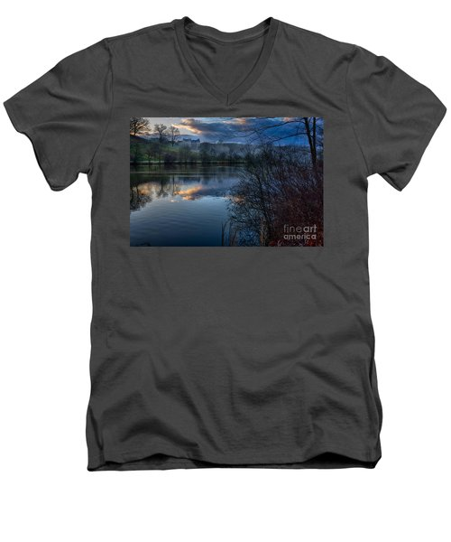 Sunrise At  Biltmore Estate Men's V-Neck T-Shirt