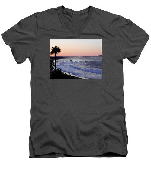 Sunrise At Pismo Beach Men's V-Neck T-Shirt by Kathy Churchman