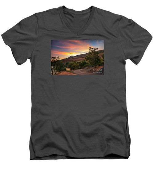 Sunrise At Woodhead Park Men's V-Neck T-Shirt by Robert Bales