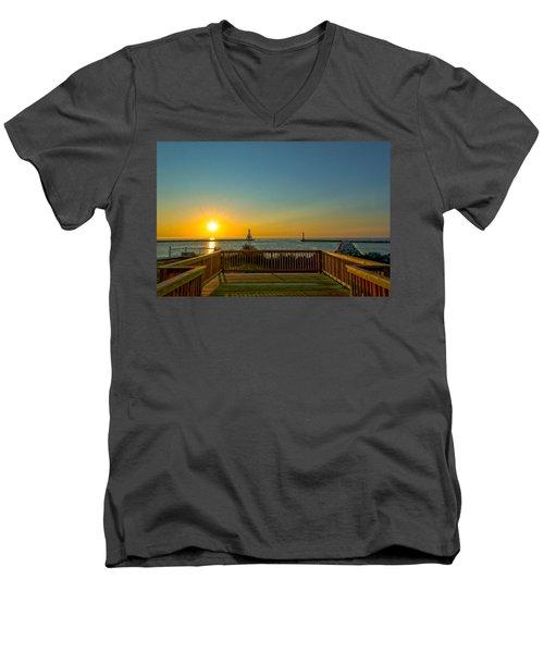 Sunrise Deck Men's V-Neck T-Shirt